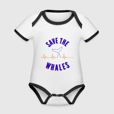 Save The Whales - Organic Baby Contrasting Bodysuit