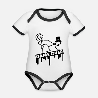 Suppression bachelor_party_game_over - Organic Contrast Baby Bodysuit