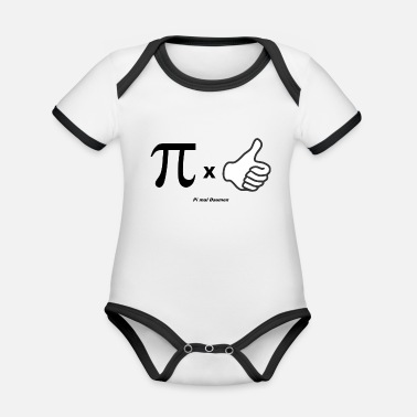 Pi PI times thumb Swabian saying for Swabians - Organic Contrast Baby Bodysuit