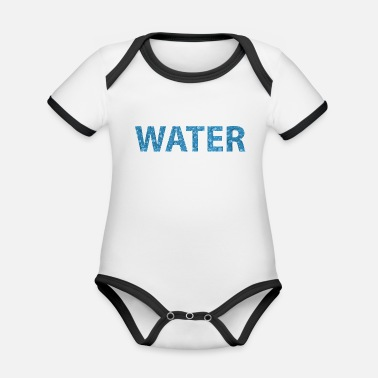 Water water - Organic Baby Contrasting Bodysuit