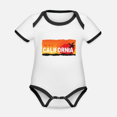 California Take Me To California - Organic Contrast Baby Bodysuit