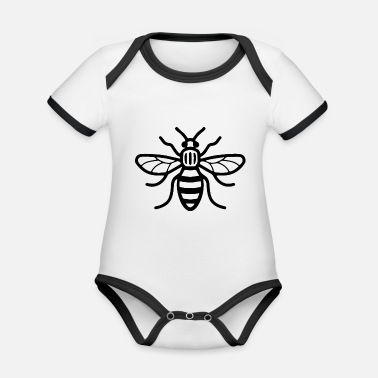 Manchester Manchester Bee - Organic Contrast Baby Bodysuit