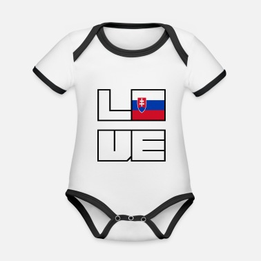 Love home roots Roots Slovakia - Organic Contrast Baby Bodysuit