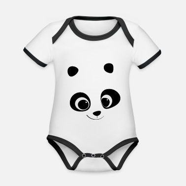 Tenderness look of tenderness - Organic Contrast Baby Bodysuit