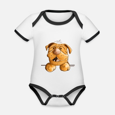 Dogue De Bordeaux Happy Dogue de Bordeaux - Organic Contrast Baby Bodysuit