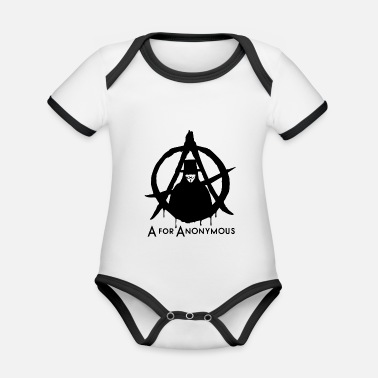 Anonymous Anonymous - A for Anonymous - We are legion - Baby Bio Kurzarmbody zweifarbig