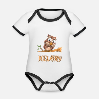 Hilarious Owl Hilary - Organic Contrast Baby Bodysuit