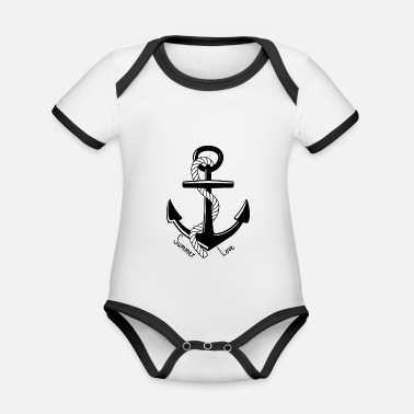 Anchor Summer Love - Summer love - Organic Contrast Baby Bodysuit