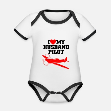 Cprice husband pilot - Organic Contrast Baby Bodysuit