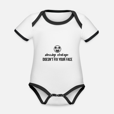 Cleavage Showing cleavage - Organic Contrast Baby Bodysuit