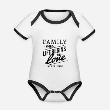 Family family - Organic Contrast Baby Bodysuit