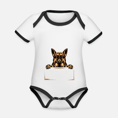 Schäfer German Shepherd German Shepherd Gift - Ekologisk kontrastfärgad babybody