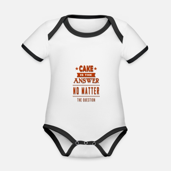 Gingerbread Man Baby Clothes - cake - Organic Contrast Baby Bodysuit white/black