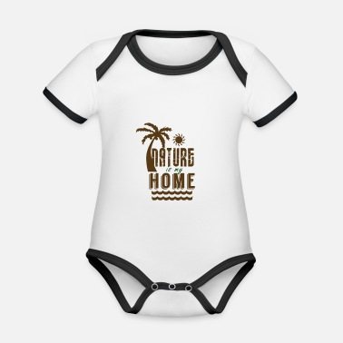Nature is my home - Organic Contrast Baby Bodysuit