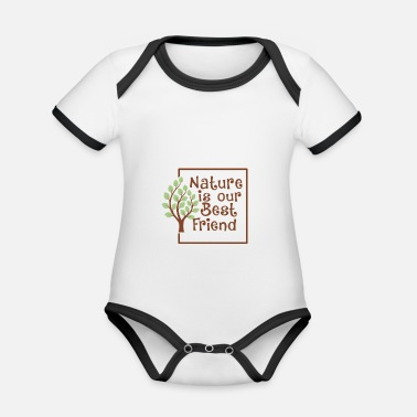 Nature is your friend - Organic Contrast Baby Bodysuit