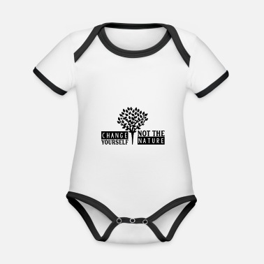 nature lover - Organic Contrast Baby Bodysuit