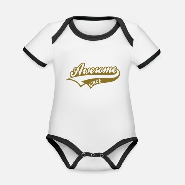 Awesome Since Awesome since - Baby Bio Kurzarmbody zweifarbig