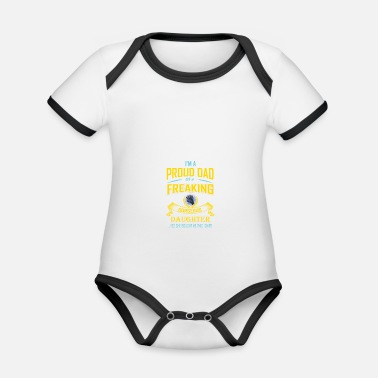 Father father and daughter - Organic Contrast Baby Bodysuit