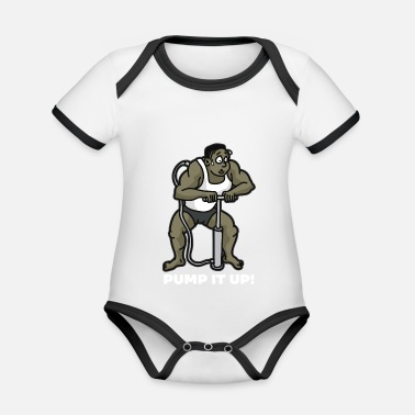 Anabolic Steroids PUMP IT UP Air Pump Bodybuilder Anabolic Steroids - Organic Contrast Baby Bodysuit