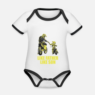 Figlio Like Father Like Son Motocross Motocross Papà Motoc - Body neonato bicolor