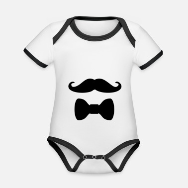 Schnäucher with a fly - Organic Contrast Baby Bodysuit