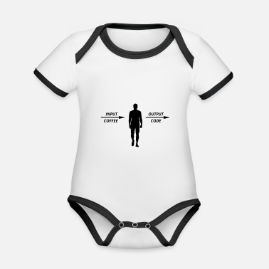 Computer Science Computer Programmer Coders Coffee Lovers - Organic Contrast Baby Bodysuit