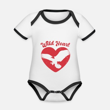 Forest Nature Forest Flying Eagle - Organic Contrast Baby Bodysuit