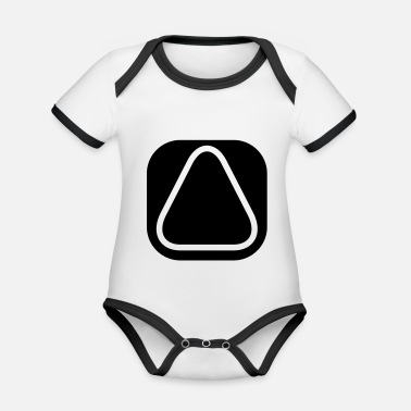 Square SQUARES VIERECKE CLEAN - Organic Contrast Baby Bodysuit