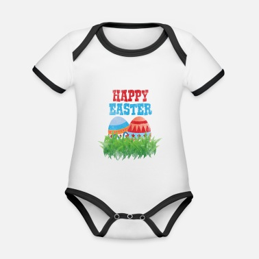 Easter Bunny Easter Easter Eggs Easter Bunny Jesus Easter Christian - Organic Contrast Baby Bodysuit