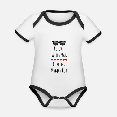 Baby baby sayings baby belly parents - Organic Contrast Baby Bodysuit