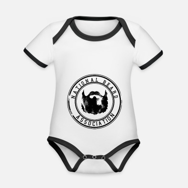 Association National Beard Association / Vintage - Ekologisk kontrastfärgad babybody
