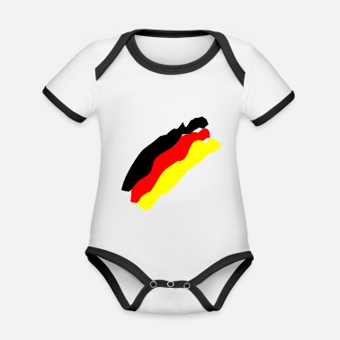 German Flag German flag - Organic Baby Contrasting Bodysuit
