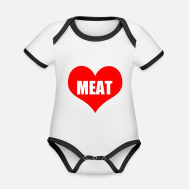 Meat meat - Organic Contrast Baby Bodysuit