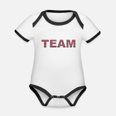 Strip Team Stripes - Baby Bio Kurzarmbody zweifarbig