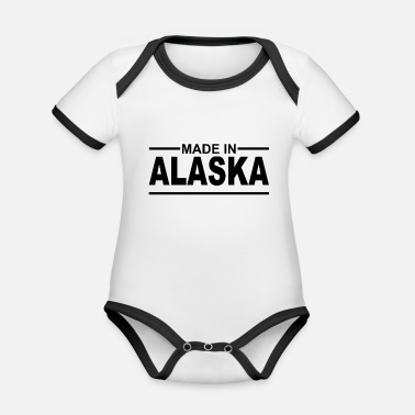 Made in Alaska - USA - Anchorage - Inuit - Organic Contrast Baby Bodysuit