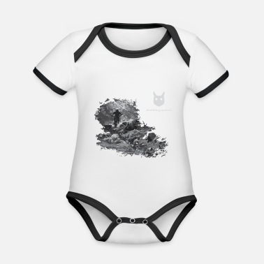 Deep in the Forest w/ Logo - Organic Contrast Baby Bodysuit