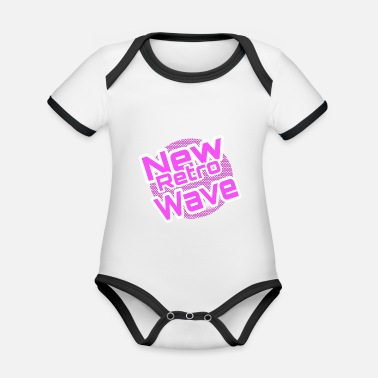 Wave New Retro Wave - Organic Contrast Baby Bodysuit