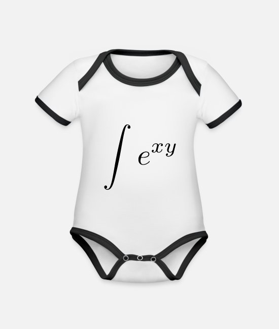 Maths Baby Bodysuits - sexy integral - Organic Contrast Baby Bodysuit white/black