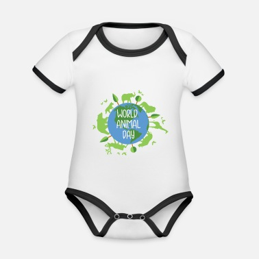 Animal Welfare animal welfare - Organic Contrast Baby Bodysuit