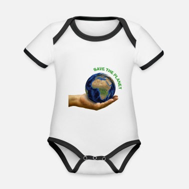 Save The Planet Save the planet - Baby Bio Kurzarmbody zweifarbig