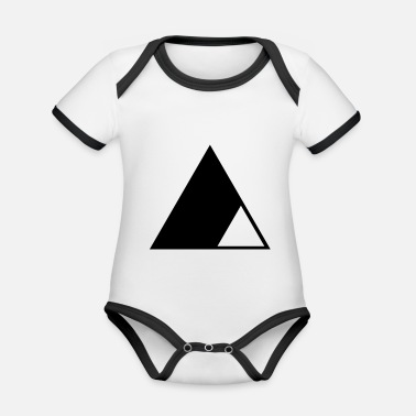 Triangle Triangle in the triangle - Organic Contrast Baby Bodysuit