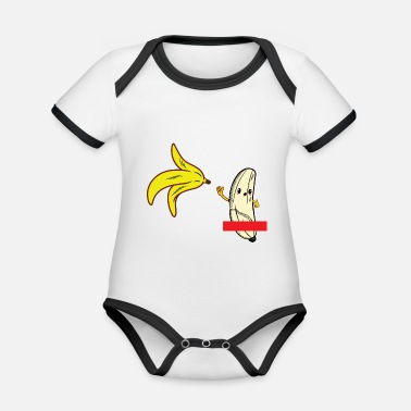 Striptease banana striptease - Organic Baby Contrasting Bodysuit