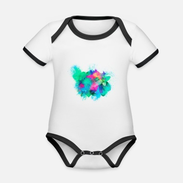 Herb mint colorful - Organic Contrast Baby Bodysuit