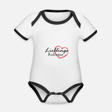 Colleagues Favorite colleague - Organic Contrast Baby Bodysuit