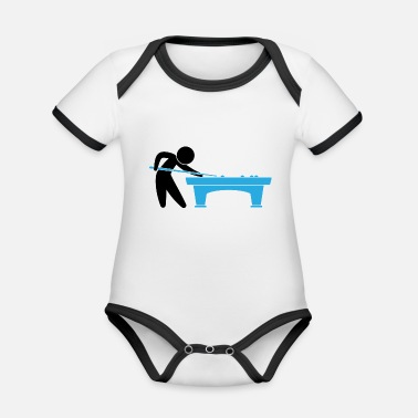 Pool A Pool Player Is On The Pool Table - Organic Baby Contrasting Bodysuit