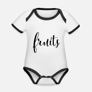 Fruits FRUITS - fruits fruit - Organic Contrast Baby Bodysuit