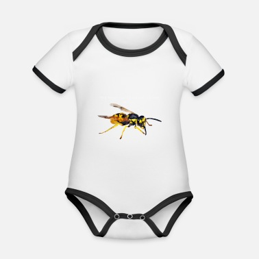 Wasp wasp - Organic Contrast Baby Bodysuit