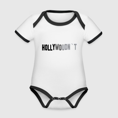 Hollywood Hollywood - Body da neonato a manica corta, ecologico e in contrasto cromatico