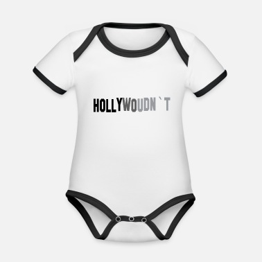 Hollywood Hollywood - Body Bébé bio contrasté manches courtes