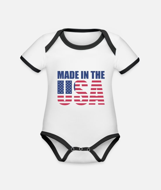 Pickup Line Baby Clothes - Made in USA - Organic Contrast Baby Bodysuit white/black